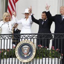 El full blanco de las primeras damas de Estados Unidos y Francia: Melania Trump y Brigitte Macron