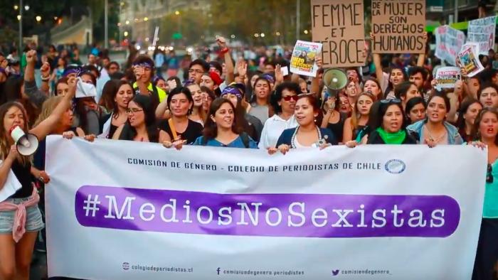 """[VIDEO] Colegio de periodista lanza campaña """"Medios No Sexistas"""""""