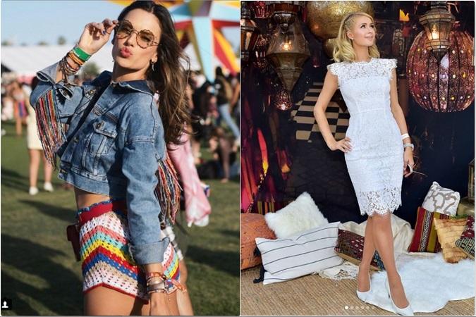 Crochet, puro estilo en Coachella: con denim, como Alessandra Ambrosio, o con transparencias, como Paris Hilton