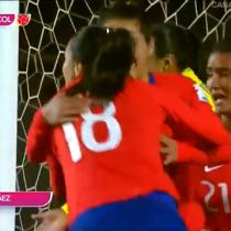 [VIDEO] El gol de cabeza de Camila Sáez que puso el empate de Chile ante Colombia por Copa América Femenina