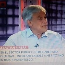El día que Sebastián Piñera se refirió al nepotismo en la oposición