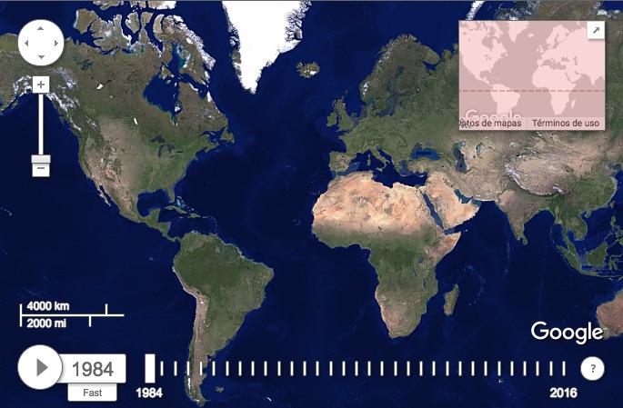 EarthTime: la web que permite ver los problemas ambientales de cada zona del planeta