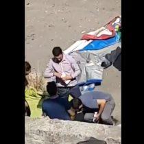 [VIDEO] Difunden video de empleados de la Municipalidad de Santiago apropiándose de mercadería incautada