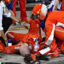 [VIDEO] Piloto de la Fórmula 1 fractura a un mecánico de su equipo tras salir mal de los pits