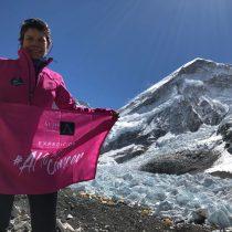 María Paz Valenzuela logró la hazaña de ascender el monte Everest tras superar un cáncer de mama