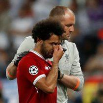 El desconsolado llanto de Salah tras abandonar la final de la Champions producto de una lesión