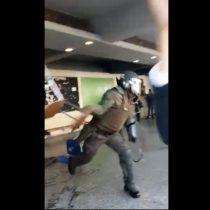 Instituto Nacional se convierte en campo de batalla tras violento ingreso de Carabineros