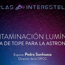 Charla sobre contaminación lumínica dictada por Pedro Sanhueza en Planetario USACH