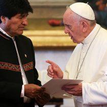 El papa recibió a Evo Morales y le animó a trabajar por la solidaridad y paz