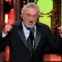Robert De Niro insulta a Trump durante su discurso y es ovacionado de pie