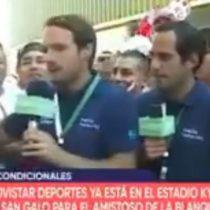 Periodista defiende a los chilenos entre burlas de la hinchada peruana
