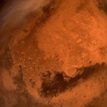 Marte, envuelto en una tormenta de polvo