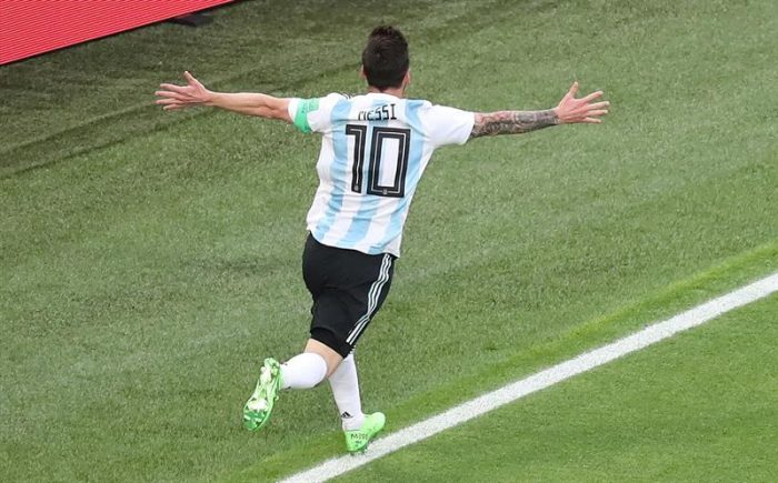 Primer tiempo: Messi salva a Argentina con golazo ante Nigeria