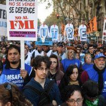 Protestan en Argentina con un