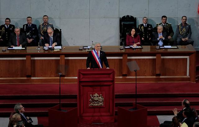 [CUENTA PÚBLICA] Piñera dice que modernizará la Ley de Inteligencia y contempla la incorporación de un Centro de Fusión de Datos contra el terrorismo