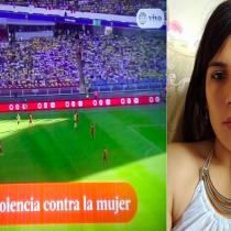 En transmisión de partido de fútbol realizan minuto de silencio por joven que fue quemada en un bus por su acosador