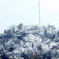 Los vecinos del Cajón del Maipo fueron los primeros: cae la nieve en diversos sectores de Chile