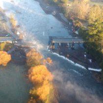 Derrumbe de un puente en el sur deja un muerto y seis heridos