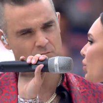 El momento emotivo de la inauguración de Rusia 2018: Robbie williams y Aida Garifullina cantando 'Angels'