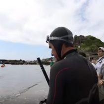 Aventurero nadador francés se lanza a cruzar el Océano pacífico y ser el primer hombre en lograrlo