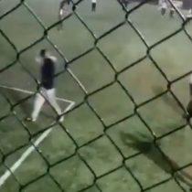 Registro del rayo que cayó en pleno partido de fútbol en Viña del Mar