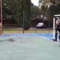 Video muestra cuando un niño le pega un