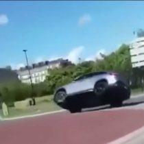 El absurdo accidente protagonizado por un Mercedes en Francia