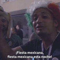 La vibrante celebración de los mexicanos en Moscú tras la victoria contra Alemania