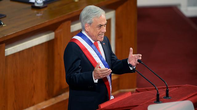 Cadem: solo un 35% de los chilenos supo o se informó del discurso de Piñera en la Cuenta Pública