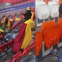 Hinchas japoneses y de Senegal limpian el estadio tras partido de su equipo