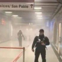 [VIDEO] Los registros del caos dentro y en los alrededores del Metro Tobalaba