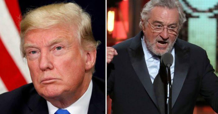 """Trump se defiende de las críticas del protagonista de Toro Salvaje: Robert de Niro es """"un individuo de coeficiente intelectual muy bajo"""""""