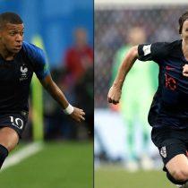 Onces de gala: así formarán Francia y Croacia para la final del Mundial de Rusia