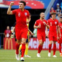 Amplio dominio: Inglaterra manda al descanso con gol de Maguire