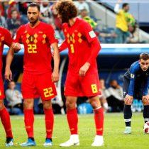 Francia y Bélgica alcanzan sin goles el descanso