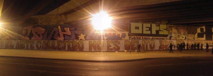 """Juventudes Comunistas emprenden ofensiva comunicacional contra la ley """"anti grafitis"""""""