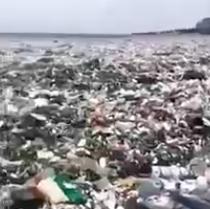 Un océano de plásticos: Las terribles imágenes de la contaminación en República Dominicana
