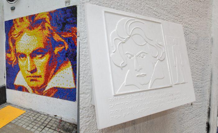Inédito circuito de murales para personas ciegas en Barrio Bellas Artes y Lastarria