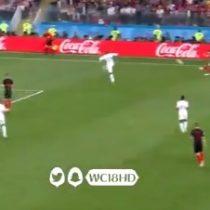 La patada voladora que le entregó el empate a Croacia