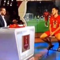 Alucinante: Eden Hazard fue entrevistado desde Bélgica como un holograma