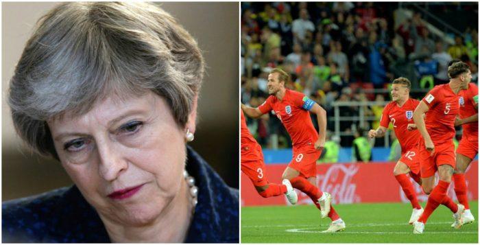 ¿Por qué el éxito de Inglaterra en el Mundial es un problema para Theresa May?