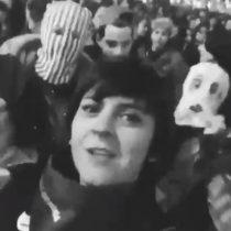 El grito de Jani Dueñas en la marcha feminista que fue censurado por Instagram