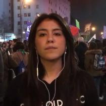 Macarena Segovia desde la marcha por el aborto libre: Ya son más de 20 mil personas presentes en la manifestación