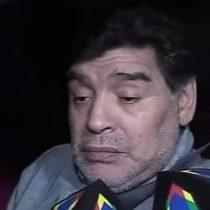 Diego Maradona es entrevistado en completo estado de ebriedad
