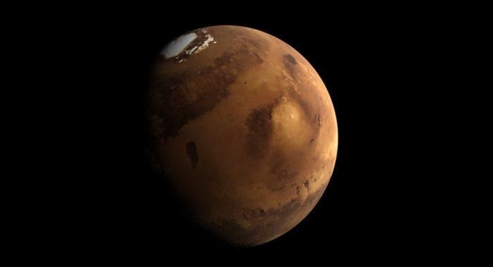 Hallazgo fundamental: encuentran por primera vez agua líquida bajo los casquetes polares de Marte