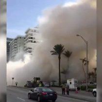 Estados Unidos: el espectacular derrumbe de un edificio de 12 pisos en Miami Beach