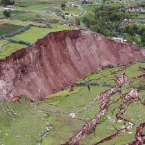 Perú: así son las profundas grietas que hicieron desaparecer el pueblo Lutto Kututo en Cusco