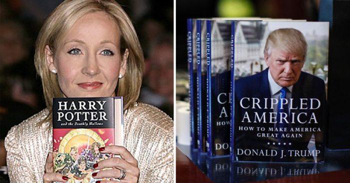 J.K. Rowling se burla de Trump en Twitter por alardear de ser escritor