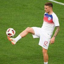 El tiro libre perfecto que abrió la cuenta en la semifinal entre Croacia e Inglaterra