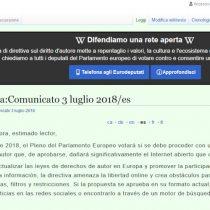 Wikipedia cierra temporalmente en protesta por iniciativa de la Unión Europea sobre derechos de autor